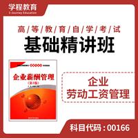 自考00166企业劳动工资【学程自考】