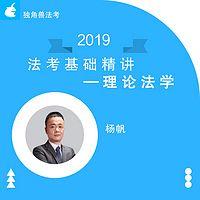 2019法考基础精讲理论法杨帆